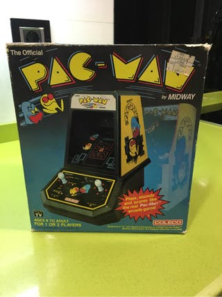 Tabletop Pacman coleco tipo Game Watch nintendo