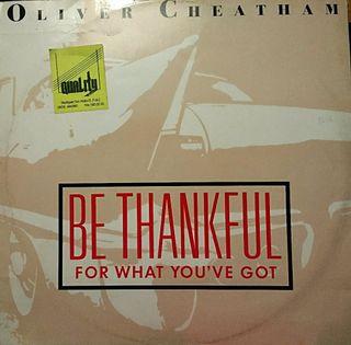 Vinilo maxisingle OLIVER CHEATHAM - BE THANKFUL ..