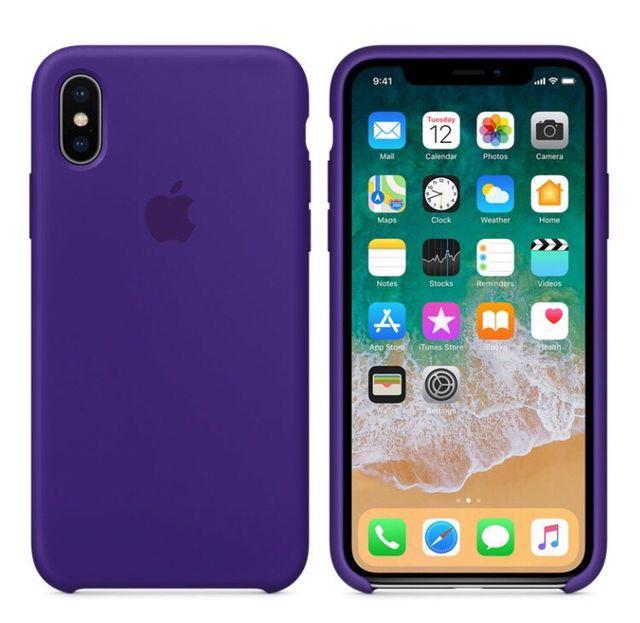 iPhone X Funda Silicone Case ORIGINAL APPLE Violeta