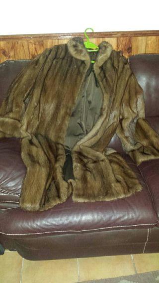abrigo de vison autentico, largo maxi