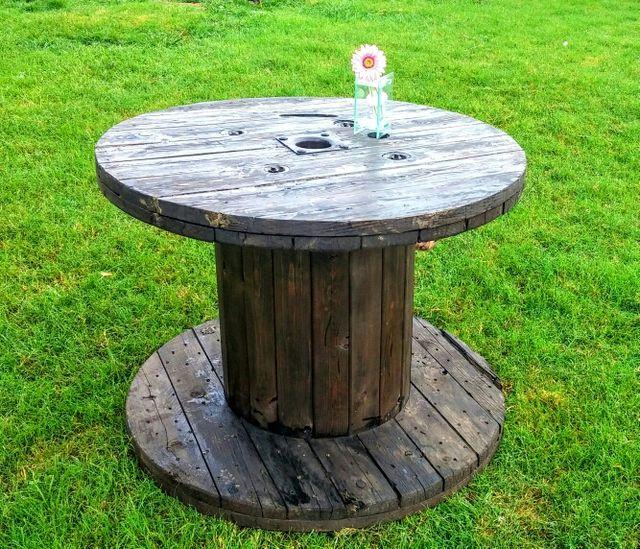 Bobina de madera para mesas jardin de segunda mano por 35 for Wallapop mesas