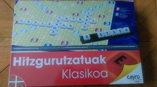 Palabras cruzadas en euskera. Nuevo