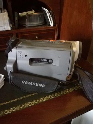 Cámara vídeo + bolsa Samsung