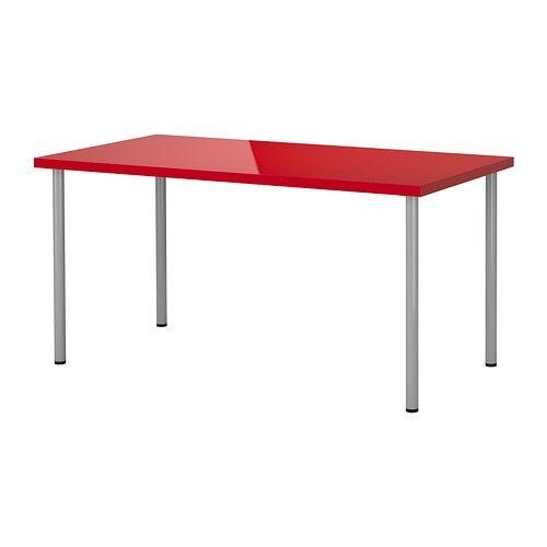 Mesa IKEA LINNMON Rojo
