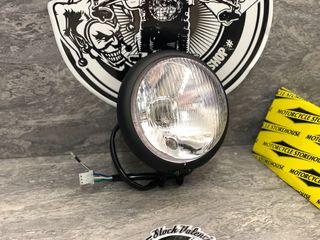 Cafe racer faro para moto negro 13 cm homologado