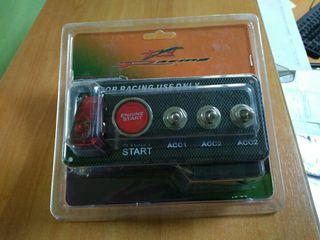 panel inteructores y boton de arranque