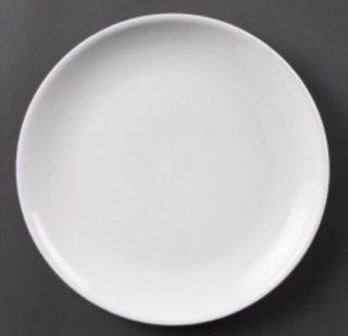 Plato postre 21cm llano porcelana