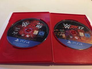WWE 2K16 y 2K17 PS4