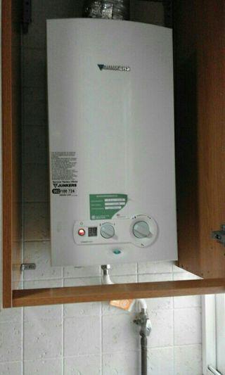 Calentador de gas natural.
