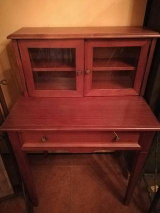 mueble escritorio de. madera de cerezo