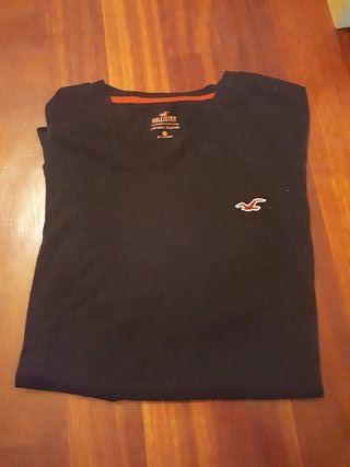 camiseta pico hollister