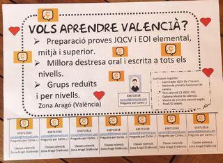 Clases de valenciano