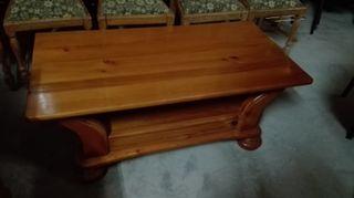 mesa de centro de pino
