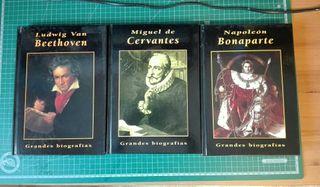 Biografías: Beethoven, Cervantes y Napoleón