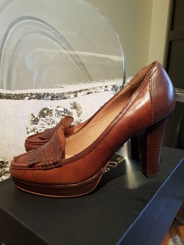 fotos oficiales e6f35 507fa Zapatos mujer. Mocasines tacón. Massimo Dutti de segunda ...