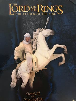 Gandalf el Blanco a caballo