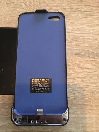 Funda iphone 5 con cargador