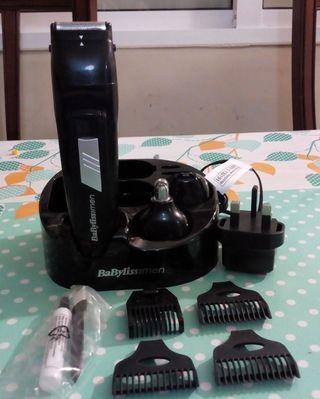afeitadora de barbas con delineador marca babyliss