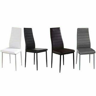 4 sillas low cost a estrenar varios colores