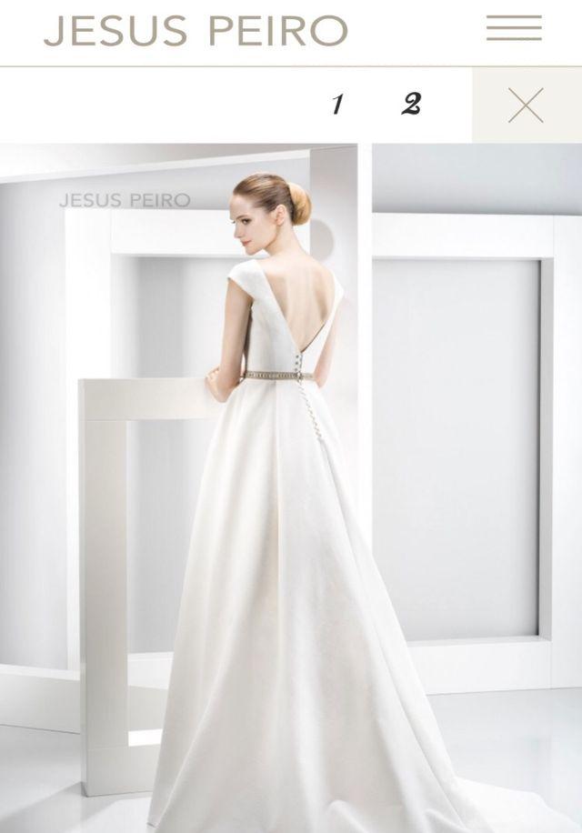 vestido de novia - diseñador jesus peiro de segunda mano por 1.100