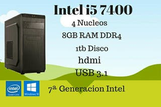 Ordenador PC Intel i5 7400 8GB DDR4 1TB HDMI