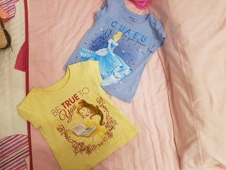 Camisetas CENICIENTA Y BELLA tienda disney
