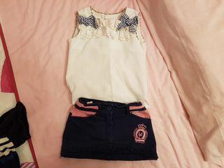 Falda y camiseta lino MIRANDA
