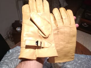 guantes piel moto cuero cafè racer vintatge
