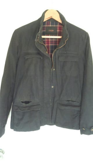 Chaqueta negra mujer tipo Barbour, marca MAJE
