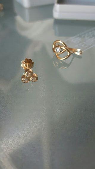 Pendientes oro (pares sueltos)
