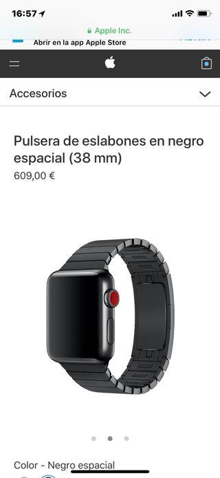 Correa Eslabones Apple Watch negra