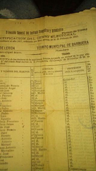 papel antiguo de 1910