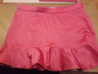 Minifalda rosa raso Blanco 38