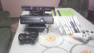 consola Xbox 360 con kinect dos mandos.