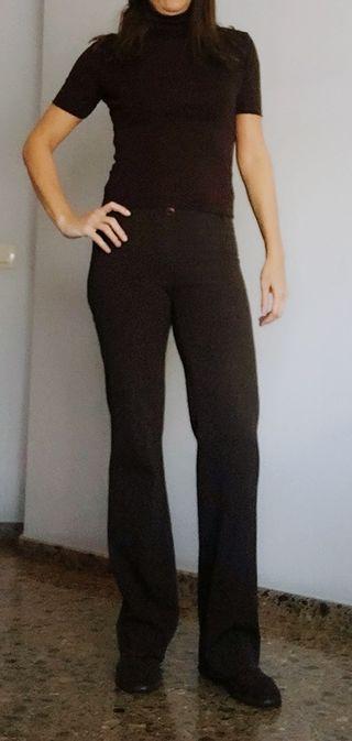 Ropa mujer pantalón marrón vintage marca PLEIN SUD ... c4209f71c6a