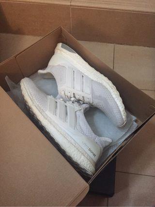 Adidas Ultraboost Triple White Talla 12 2/3 46
