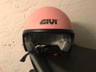 Casco moto rosa GIVI