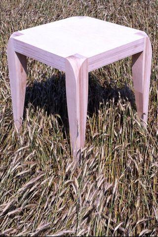 Mesa madera maciza 80x80x80 diseño (haya y roble)