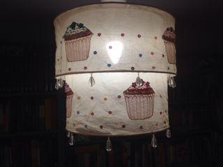 2 lamparas de tela techo