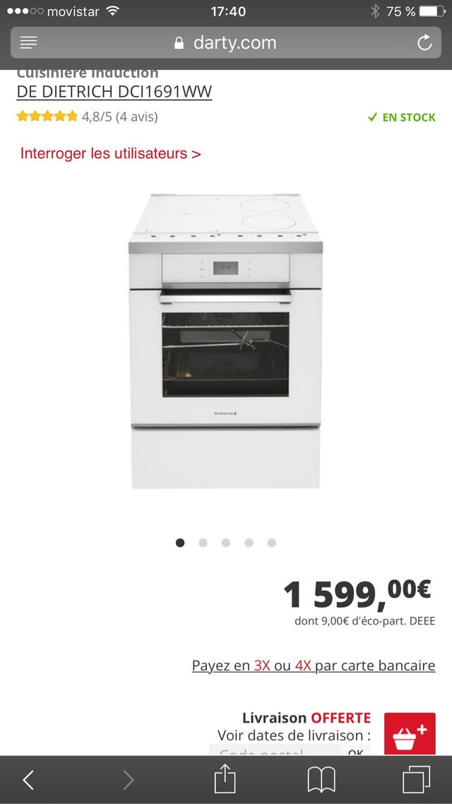 magasin en ligne 0686b d40eb Cocina induccion horno piro de segunda mano por 799 € en ...