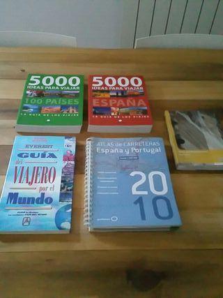 Libros variados de viajes y turismo