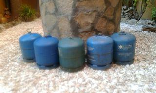 botellas de gas azul