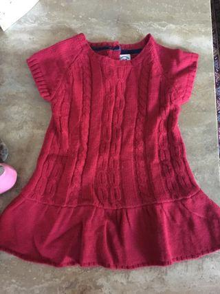 Vestido lana talla 12/18 meses