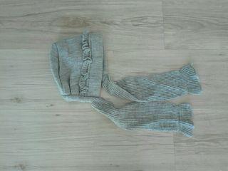 Capota bufanda gris 4 años