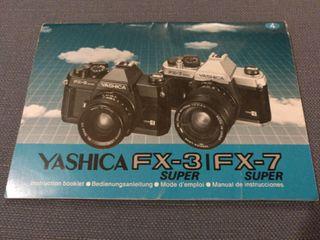Manual de instrucciones Yashica FX-3 y FX-7