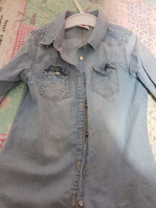 camisa vaquera de niña