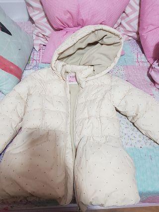abrigo plumas de niña