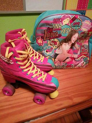 patines soy luna y bolsa
