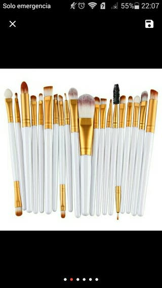 Set de 20 pinceles de maquillaje
