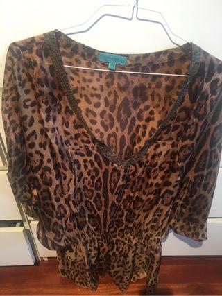 Vestido Kaftan leopardo